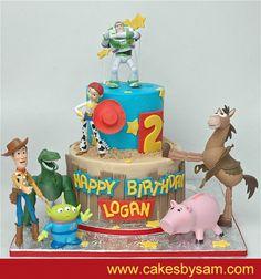 Toy Story Cakes for Boys Toy Story Theme, Festa Toy Story, Toy Story Party, Fondant Cakes, Cupcake Cakes, Toy Story Birthday Cake, Toy Story Cakes, Birthday Cake Decorating, Disney Cakes
