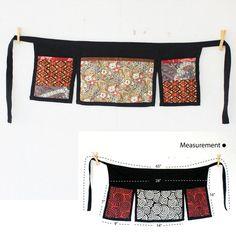 Unisex half apron 3 bags Thai batik and Thai by meatballtheory, $14.75