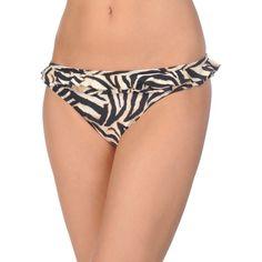 Pilyq  Barcelona Swim Brief ($54) ❤ liked on Polyvore featuring swimwear, black, flounce swimwear, swim trunks and ruffle swimwear