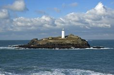 Godrevy Lighthouse. Not far from #StIves. Drive through Hayle and follow signs to Gwithian beach.