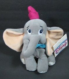 "NEW 8"" DUMBO Elephant Disney Bean Bag Plush Stuffed Animal Toy B238"