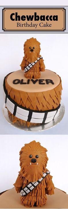 chewbacca cake - star wars cake