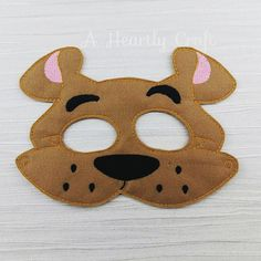 Scooby Doo Mask Silly Dog Mask Dog Felt Mask Childrens