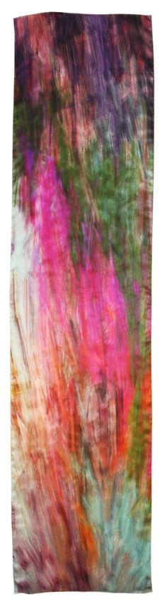 Lirio 100% Silk Satin Chiffon Large Rectangle by JennyCollicott, $110.00