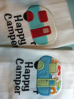 Happy Camper Kitchen Tea Towel Choose Your by TheTurquoiseGypsy, $12.95