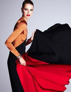 Codigos de Vestir: Marie Ihm by Enrique Vega for Vogue Mexico December 2015 - Salvatore Ferragamo Fall 2015