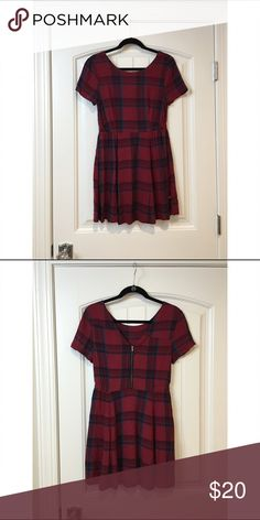 RVCA red plaid babydoll dress Never worn RVCA Dresses