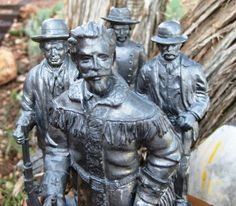 RARE Limited Edition Michael Ricker Pewter Complete Western Series Set of 4 Near MINT SIGNED on Etsy, $1,200.00