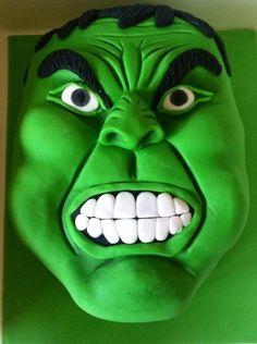Incredible Hulk Cake - Cake by Hulk Birthday Parties, 4th Birthday Cakes, Superhero Cookies, Superhero Cake, Ironman Cake, Movie Cakes, Ballerina Cakes, Funny Cake, Cakes For Boys