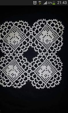 no pattern just this .jpg,  filet crochet and picot ringing