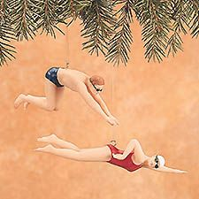 Female Swimmer Personalized Christmas Ornament | Female swimmers