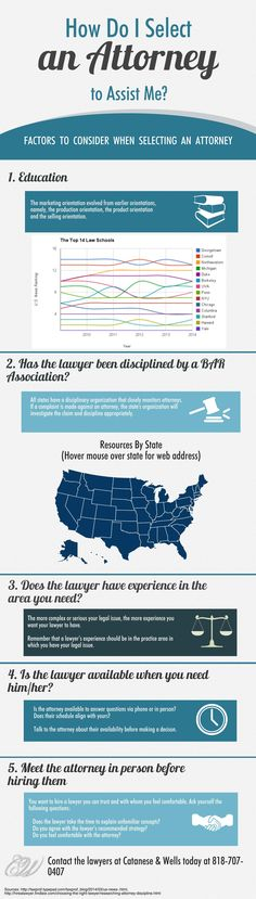 How Do I Select An Attorney to Assist Me: An #Infographic