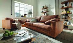 Leder-Sofa Tennessee