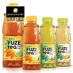 Silver Pentaward 2012  Beverages –  Coffee & Tea  (RTD – ready-to-drink)    Brand: FUZE TEA – THE COCA-COLA COMPANY    Entrant: Anthem Worldwide    Country: USA    www.anthemww.com