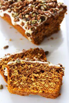 Pumpkin Oat Bread with Pepita Praline Crunch
