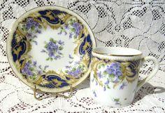 Beautiful Vintage Demitasse / Tea Cup and by VintageGlassEscape