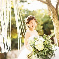 あたたかな陽の光とリボンカーテン . . ♯ソンブルイユ ♯結婚式場 ♯ウェデング ♯ガーデン ♯プレ花嫁 ♯結婚式準備 ♯2017ウェデング ♯2017夏婚 ♯2017秋婚
