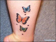Butterflies:  butterfly tattoo designs on ankle