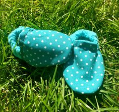 Teal and White Polka Dotted Baby and Toddler by WithinThePines