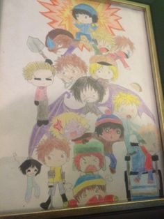 I drew South Park :3
