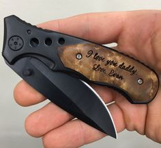 Fathers Day Gift For Dad, First Fathers Day Gift, Engraved Pocket Knife with Birthdays of Children, Gift from Wife, Daughter, Son The perfect
