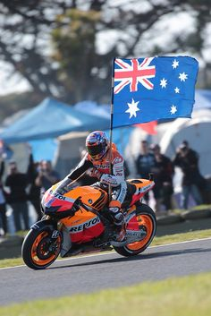2012 MotoGP Phillip Island  Casey Stoner.    It was awesome to watch him for the last time down there :-)