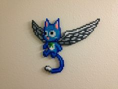 Happy the cat from the anime Fairy Tail perler bead wings