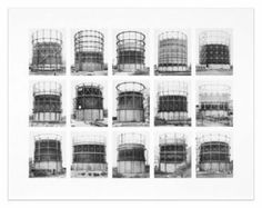 Gasbehälter (Gas Tanks) Image VII from series: Typologies, 2008, by Bernd & Hilla Becher