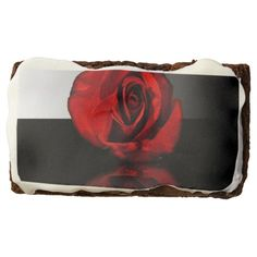 Red Rose Reflection Brownie