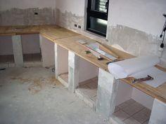 Top Costruzione cucine in muratura Napoli - Küchen Design, House Design, Interior Design, Cottage Kitchens, Home Kitchens, Rustic Kitchen Cabinets, Kitchen Remodel Cost, Concrete Kitchen, Shabby Chic Kitchen