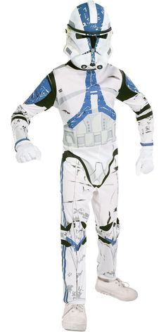 Boys Star Wars Clone Trooper Costume - Clone Wars - Party City