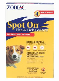 $10.16-$16.89 Flea and tick control when you need it The popular Zodiac line helps pet owners stop existing flea and tick problems dead -- and prevent their reoccurrence -- with a full selection of proven, affordably priced products.