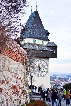 Christkindlmarkt am Schlossberg - My Café Au Lait Graz Austria, Top Place, Big Ben, Clocks, Switzerland, New Homes, Country, Building, Pictures