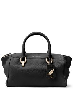 DVF, Sutra Small Leather Duffle Bag.