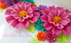 Large Paper Flowers Backdrop Candy Bar by morepaperthanshoes
