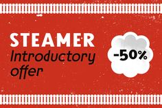 Check out Steamer Font Family -50 % by Erik Bertell Fonts on Creative Market