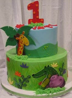 Jungle Buddies By jaklotz1 on CakeCentral.com