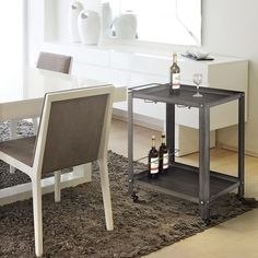 Furniture of America Taymen Industrial Black Metal Serving Cart - Free Shipping Today - Overstock.com - 18012974 - Mobile