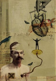 Inside Outside: Anatomy Admiration Collage Series by Diego Maxx