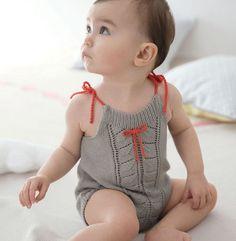 Modèle combinaison point jersey Layette - Modèles Layette - Phildar