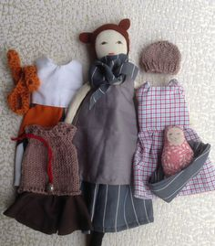 Georgina is a dress-up cloth doll made for active, quiet and imaginative play for children of all ages. Made in a pet free, smoke free environment, she