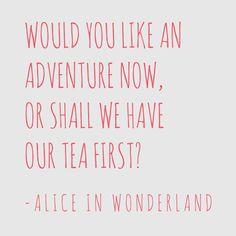 Alice in Wonderland Adventure Wall Sticker Quote Red
