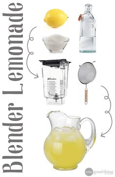 Lemonade - No Squeezing Required! · Jillee Refreshing and delicious as the fresh-squeezed variety without all the hassle!Refreshing and delicious as the fresh-squeezed variety without all the hassle! Party Drinks, Fun Drinks, Healthy Drinks, Beverages, Healthy Smoothies, Healthy Eats, Tea Party, Refreshing Drinks, Summer Drinks
