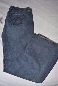 c3fb7ba6f17c9c Torrid 5 pocket dark wash denim jeans size 22