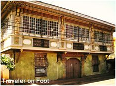 The recollection was like being part of a sepia photograph set in a steep but wide staircase of an old yet well-kept house. We stepped on a gracious caida surrounded by capiz windows to b… Filipino Architecture, Philippine Architecture, Filipino House, Philippine Houses, Bamboo House, Church Building, Spanish House, Stone Houses, Classic House