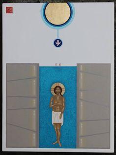"Saatchi Art Artist Danylo Movchan; Painting, ""Baptism of Christ"" #art"
