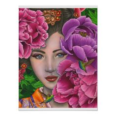 Add some color to your day, whether lipstick or flowers. Secret Garden by Maria J. Cross Paintings, Watercolor Paintings, Illustrations, Illustration Art, Art Fantaisiste, Art Visage, Mosaic Flowers, Fairy Art, Whimsical Art