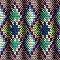 Seamless Color Knitted Ornament Pattern Royalty Free Cliparts, Vectors, And Stock Illustration. Fair Isle Knitting Patterns, Knitting Charts, Crochet Round, Bead Crochet, Ornament Pattern, Quilt Border, Chart Design, Tapestry Crochet, Knitted Bags