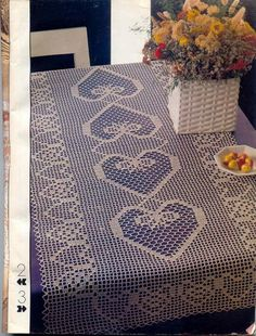 World crochet: tablecloth