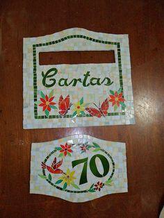 LM11 - placa de cartas e numeral em mosaico http://www.castelvitrais.com.br/